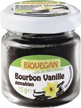 Biovegan Bourbon Vanille gemahlen, im Glas 15g