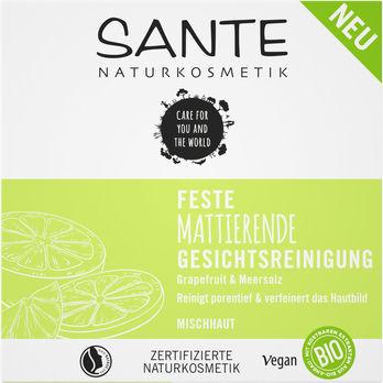 SANTE Feste Mattierende Gesichtsreinigung Grapefruit&Meersalz 60g
