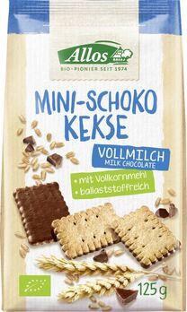 Allos Mini Schokokekse mit Vollmilchschokolade 125g