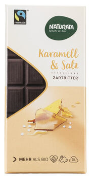 Naturata Chocolat Karamel & Salz Edelbitterschokolade 100g