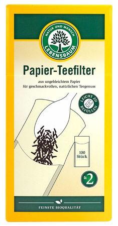 Lebensbaum Papier-Teefilter Gr. 2 100 Stück