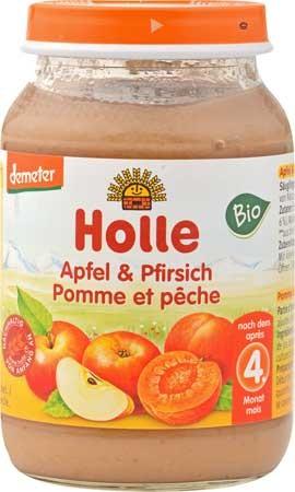 Holle Pfirsich & Apfel demeter 190g